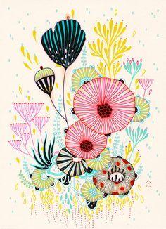 """Original Drawing by Yellena James - """"Peace"""" Art Journal Inspiration, Painting Inspiration, Yellena James, Graphic Illustration, Illustrations, Posca Art, Teen Art, Organic Art, Art Watercolor"""
