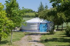 Meon Springs yurts on a farm in Hampshire