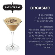 Try the delicious Passion Bay! Bar Drinks, Wine Drinks, Cocktail Drinks, Yummy Drinks, Alcoholic Drinks, Cosmopolitan Cocktail Recipes, Baileys Cocktails, Comida Diy, Alcohol Recipes