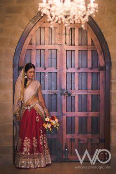 indian wedding lehenga, bridal lehenga, red and white indian wedding lehenga