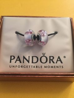 ef12efbb9 Pandora Bracelet Charms, Pandora Jewelry, Cultured Pearls, Cherry Blossom,  Pairs, Cherry Blossoms