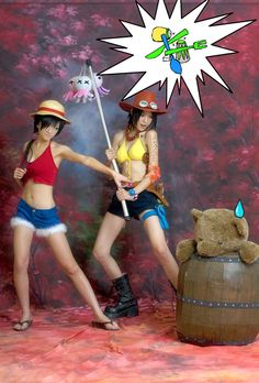 Ace and Luffy (genderbend) - One Piece