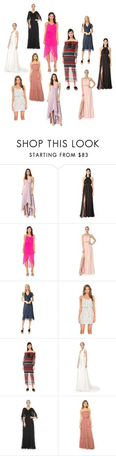 """""""Chiffon Fabric..**"""" by yagna ❤ liked on Polyvore featuring Monique Lhuillier, Notte by Marchesa, Bobi, Anna Sui, English Factory, Theia, Reem Acra, Jill by Jill Stuart and vintage"""