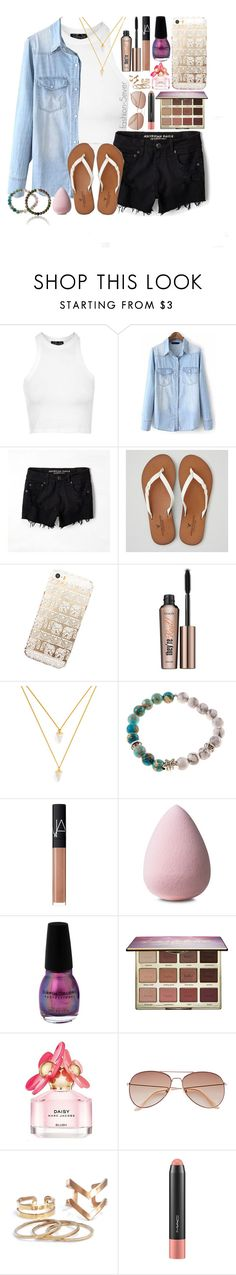 """that nail polish😍😍😍"" by itsfashion-5ever ❤ liked on Polyvore featuring Topshop, American Eagle Outfitters, Benefit, BaubleBar, NARS Cosmetics, tarte, Marc Jacobs, H&M and MAC Cosmetics"