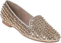 ShopStyle: STEVE MADDEN SHOES Studlyy Loafer Gold Glitter Fabric