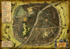 All information about Fantasy City Map Tile. Pictures of Fantasy City Map Tile and many more. Fantasy City Map, Fantasy Town, Fantasy Places, Dwarven City, Warhammer Fantasy Roleplay, Village Map, Map Maker, Dungeon Maps, Dungeon Tiles