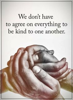 Quotes We don't have to agree on everything to be kind to one another.