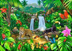 Rainforest Harmony Mural - Chris Hiett| Murals Your Way