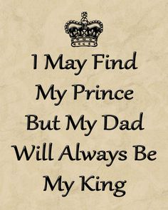 Dad Will Always Be My King - 8 X 10 Wall Art - Dad Gift - Father Of The Bride Gift  - Fathers Day Gift
