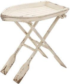 "Bayden Hill Wood Folding Table 28""W, 25""H Coastal Style, Coastal Decor, Nautical Home Decorating, Rustic Beach Decor, Coastal Cottage, Coastal Homes, Coastal Living, Wood Folding Table, Coastal Bedrooms"