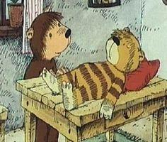 Schooltv: Ik maak je weer beter, zei Beer - Kleine Tijger is ziek - Beer zorgt voor tijger. prentenboek taal lezen
