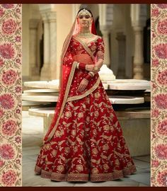 Sabyasachi Mukherjee has never failed to impress us with his stunning wedding attire collections. Look at the latest Sabyasachi lehenga designs to give a treat to your eye. Indian Bridal Outfits, Indian Bridal Lehenga, Indian Bridal Wear, Pakistani Bridal, Bridal Dresses, Wedding Outfits, Indian Wear, Indian Dresses, Indian Clothes