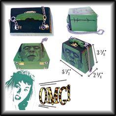Frankenstein Monster Wood Box Purse