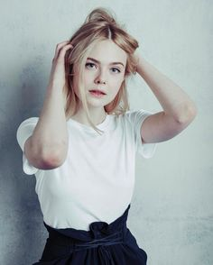 hollywoodreporter Elle Fanning, photographed by @austinhargrave at #THRSundance.