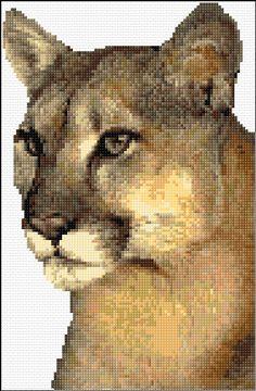 Cross Stitch | Puma xstitch Chart | Design Modern Cross Stitch Patterns, Bead Loom Patterns, Cross Stitch Designs, Cross Stitching, Cross Stitch Embroidery, Crochet Cross, Filet Crochet, Peler Beads, Cross Stitch Needles
