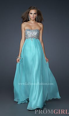 For Bailee - JR/SR One day!!!  Strapless Evening Gown by La Femme at PromGirl.com