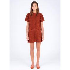 Mona Leather Dress - Rust - Dresses - Women