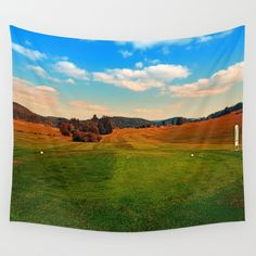 Summer season at the golf club Wall Tapestries, Tapestry, Golf Clubs, Landscape Photography, Golf Courses, Seasons, Summer, Products, Wall Hangings