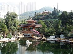 The Chi Lin Nunnery is located in Kowloon and dates as far back as 1934. The building was built with traditional Feng Shui principles in mind, facing south, and was constructed with authentic Tang Dynasty techniques. The architects opted to use dowels and ibrackets instead of traditional nails. The building and its surrounding gardens are a stunning work of art.