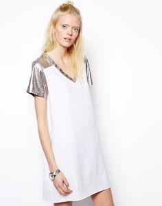 Asos State of Being Metallic Trim T-Shirt Dress #springtrends