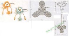 BROOCHES crochet flowers
