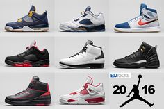 Your Guide to Air Jordan Retro 2016 Releases with Pictures and Release Dates.