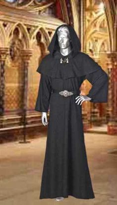 Medieval Wicca Pagan Ritual Robe with Hood by YourDressmaker, $75.00