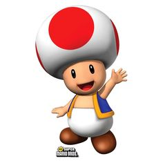 This Super Mario Brothers Toad Standup will make your birthday boy or girl smile. Super Mario Party, Super Mario Birthday, Mario Birthday Party, Mario Kart 64, Mario Y Luigi, Super Mario Brothers, New Super Mario Bros, Video Game Characters, Mario Kart Characters
