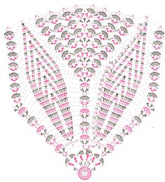 Crochet Table Runner Pattern, Crochet Doily Diagram, Crochet Doily Patterns, Crochet Chart, Thread Crochet, Filet Crochet, Crochet Motif, Crochet Stitches, Crochet Coaster