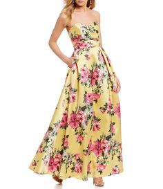 da83a0a9956 Shop for Teeze Me Strapless Floral Print Ball Gown at Dillards.com. Visit  Dillards