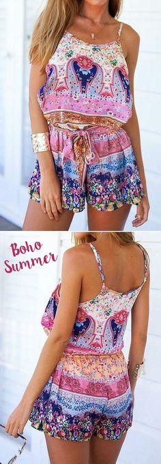 Boho Summer Romper