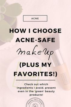 Could makeup be clogging your skin and causing acne? Check out which makeup ingredients are acne-safe & which ingredients to avoid! via @healthyskinglows
