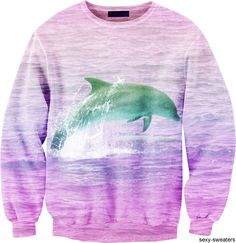 sweatshirt Beautiful dolphins I think they are the most loving and beautiful creatures living they are soo sweet and intelligant