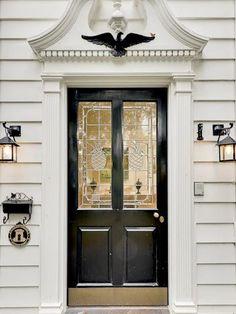 lead glass door