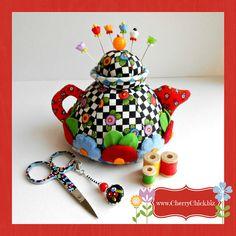 Mary Engelbreit Pincushion, Decorative Sewing Pins, Sewing pincushion #pincushion #MaryEngelbreit