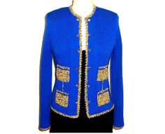 Womens Couture Four-Pocket  Knit Jacket