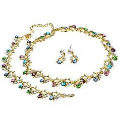 Arinna Bracelet Earrings Necklace Set Swarovski Elements Crystal Arinna. $35.98