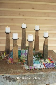 Home Decor-Candle holders-Farmhouse Home Decor-Rustic Home Decor-Home - The Rustic Pelican