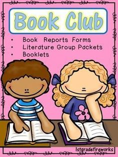 """""""Book Club""""  Book Reports """"Book Club"""" - (Literature Group) Packets...  Included:  Book Report Forms - for Small Group Work  Directions, """"Talk-About-It"""" (discussion cards)  Forms for Predictions, Summarizing.  Word Work Practice...including nouns,verbs,etc"""