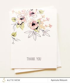 One Layer Thank You Card