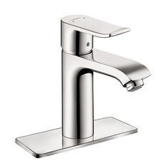 Hansgrohe Metris Lavatory Faucet | Chrome Finish | Solid Brass Construction | Pop-up drain and supply lines included