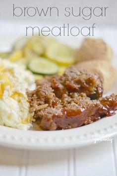 Brown Sugar Meatloaf Recipe...not your grandma's meatloaf, folks