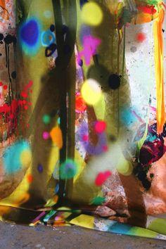 Graffiti Stripe Velvet from Timorous Beasties