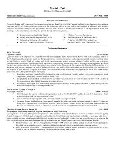 Corporate Trainer Resume Examples Sample Resume Resume