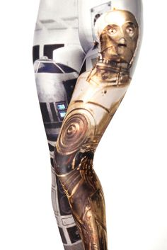Anyone have $105 Aus dollars to lend me? Artoo and Threepio Leggings #fashion #starwars #need