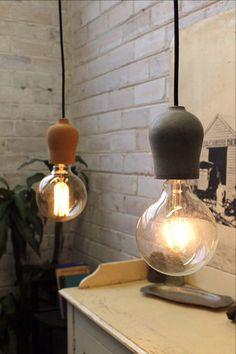 Pendant Light Cords - Cork and Concrete. Industrial style spaces - Fat Shack Vintage - Fat Shack Vintage
