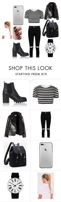 """Untitled #3"" by bojic-mirha ❤ liked on Polyvore featuring Barneys New York, Topshop, H&M, Boohoo and Rosendahl"