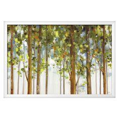 Forest Study I Crop by Lisa Audit, White Wood Framed Art Print, Green