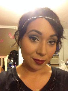 Eyes (urban decay) eyeshadow  Face and eyeliner Mac  Lipstick Mac (fixed on drama matte lipstick)