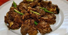 How To Cook Yummy Fried Goat Meat Skewer   What will you need :  Goat meat is 200 grams, cut into small Pineapple or papaya leaves to taste 2 tablespoons soy sauce 4 cloves garlic Red onion 4 cloves, thinly sliced Cayenne pepper 7 pieces, cut - cut Lime leaves 6 pieces ½ teaspoon pepper Kemiri 4 items 1 ½ teaspoons coriander 1 teaspoon tamarind 50 grams of brown sugar Water as much as 50 milli liter Cumin oil to taste Salt to taste